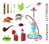 set of smoking and bad habits.... | Shutterstock .eps vector #1177550158