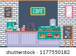 interior of cafe building... | Shutterstock .eps vector #1177550182