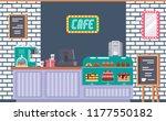 interior of cafe building... | Shutterstock .eps vector #1177550182