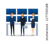 employees  office workers of... | Shutterstock .eps vector #1177550188