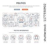 linear banner of the politics.... | Shutterstock .eps vector #1177550902