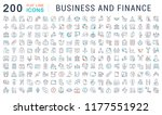 set of vector line icons of... | Shutterstock .eps vector #1177551922