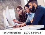 picture of architects working... | Shutterstock . vector #1177554985