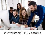 picture of architects working... | Shutterstock . vector #1177555015