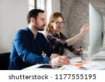 picture of architects working... | Shutterstock . vector #1177555195
