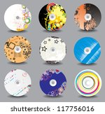 collection of vector cd cover...