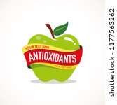 antioxidants green apple with... | Shutterstock .eps vector #1177563262
