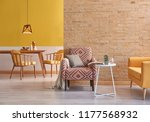 modern yellow detail living... | Shutterstock . vector #1177568932