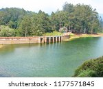 kundala dam and lake at munnar  ... | Shutterstock . vector #1177571845