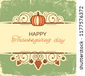 happy thanksgiving vintage... | Shutterstock .eps vector #1177576372