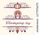 happy thanksgiving decorative... | Shutterstock .eps vector #1177576375