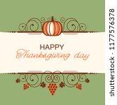 happy thanksgiving background... | Shutterstock .eps vector #1177576378
