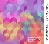vector bright geometric... | Shutterstock .eps vector #1177577848