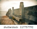 Groyne Or Sea Defense For...