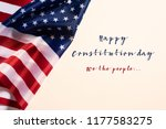 closeup of a flag of the united ... | Shutterstock . vector #1177583275