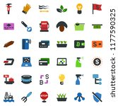 colored vector icon set  ... | Shutterstock .eps vector #1177590325