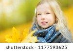 cute little girl having fun on... | Shutterstock . vector #1177593625