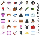 colored vector icon set   cafe... | Shutterstock .eps vector #1177594168