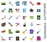 colored vector icon set  ... | Shutterstock .eps vector #1177597495