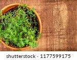 an overhead photo of fresh... | Shutterstock . vector #1177599175