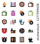 color and black flat icon set   ... | Shutterstock .eps vector #1177599658