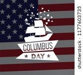happy columbus day. vector... | Shutterstock .eps vector #1177603735