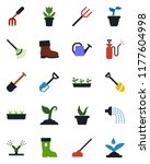 color and black flat icon set   ... | Shutterstock .eps vector #1177604998