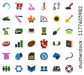 colored vector icon set   udder ... | Shutterstock .eps vector #1177605982