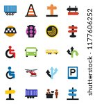 color and black flat icon set   ... | Shutterstock .eps vector #1177606252