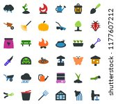 colored vector icon set   well... | Shutterstock .eps vector #1177607212