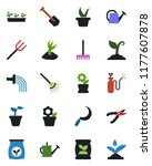 color and black flat icon set   ... | Shutterstock .eps vector #1177607878