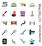 color and black flat icon set   ... | Shutterstock .eps vector #1177607908