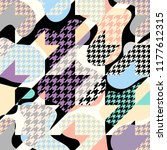 classic hounds tooth pattern in ... | Shutterstock .eps vector #1177612315