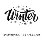 winter. snowflakes and snow... | Shutterstock .eps vector #1177612705