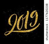 happy new 2019 year. vector... | Shutterstock .eps vector #1177620238