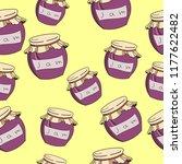 fruit jam seamless pattern... | Shutterstock .eps vector #1177622482