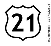 us route 21 sign  black and... | Shutterstock .eps vector #1177622605