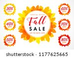 bright coloured autumn sale... | Shutterstock .eps vector #1177625665