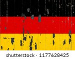 national flag of germany on the ... | Shutterstock . vector #1177628425