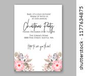wedding card or invitation with ... | Shutterstock .eps vector #1177634875