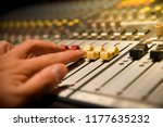 close up hands of sound... | Shutterstock . vector #1177635232