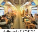 blurred image of city people... | Shutterstock . vector #1177635262