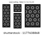 set of decorative vector panels ... | Shutterstock .eps vector #1177638868