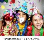 Three Funny Carnival Kids...