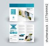 brochure design. creative tri... | Shutterstock .eps vector #1177644442