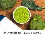 broccoli pureed supplementary... | Shutterstock . vector #1177646968