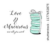 vector colorful cute macaroons...   Shutterstock .eps vector #1177652875