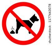 no dog poop sign  no fouling ... | Shutterstock .eps vector #1177663078