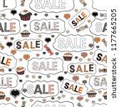 cute sale banner. seamless.... | Shutterstock . vector #1177665205