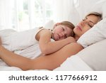 mother and young daughter child ... | Shutterstock . vector #1177666912